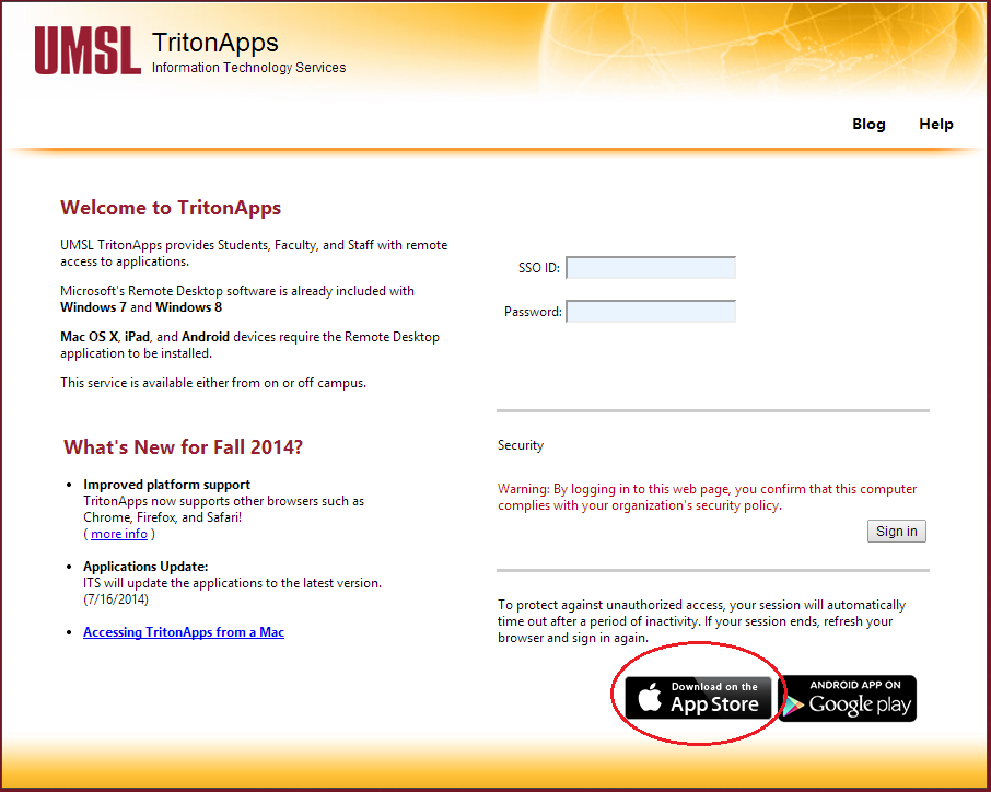 Triton Apps help